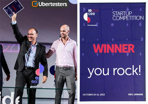 Ubertesters was announced by the judges as the winner of the IDCEE 2013 startup competition and won a prize of 15,000 euro