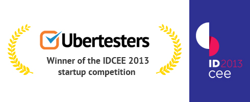 UBERTESTERS NAMED WINNER OF THE IDCEE 2013 STARTUP COMPETITION