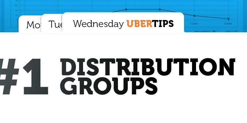 Use of distribution groups in Ubertesters platform