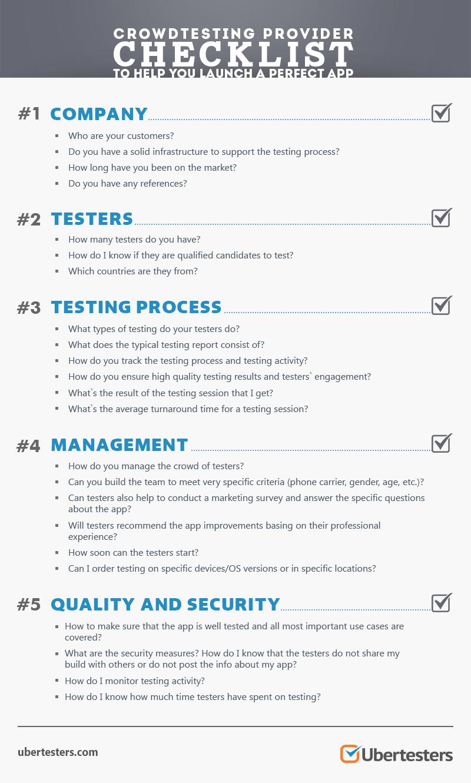 Crowdtesting Provider Checklist