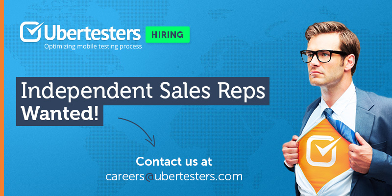 Ubertesters is HIRING! Independent sales representative ...