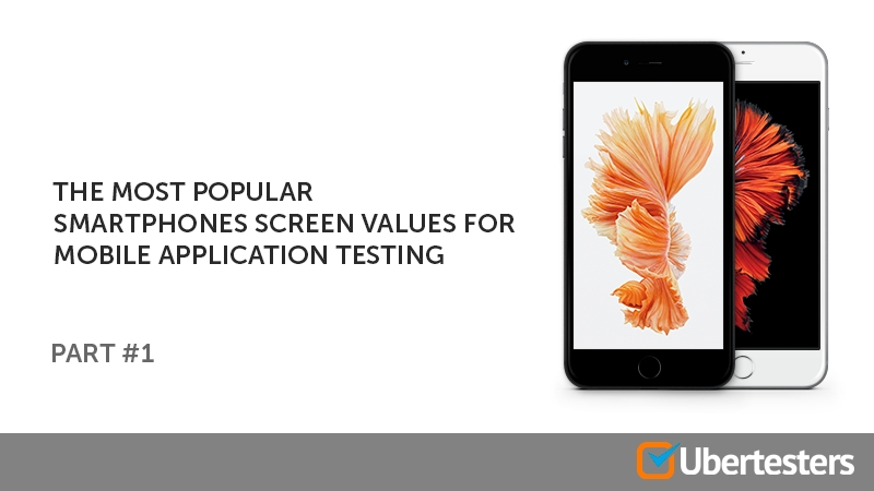 The most popular smartphones screen values for mobile application testing