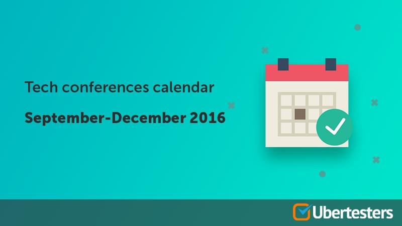 Tech conferences calendar